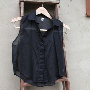 American Apparel Short Sleeve, collared blouse